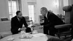 Martin Luther King 1963 im Gespräch mit Präsident Lyndon B. Johnson.