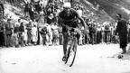 Der Italiener Gino Bartali an der Tour de France 1948, die er zum zweitenmal nach 1938 gewinnt.