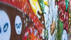 Farbenfrohes Graffito.
