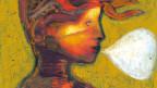Bild einer Frau mit weisser Sprechblase.