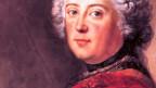 Ein Gemälde zeigt Friedrich II.