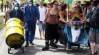 Ein Protestmarsch gegen Atomenergie in Villigen, Aargau (2011)