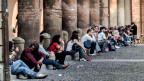 Studentinnen und Studenten an der Universität von Bologna.