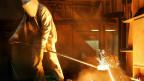Arbeit mit dem Rohstoff Eisen