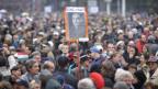 Porteste in Budapest gegen die Regierung Viktor Orbans.