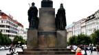 Reiterdenkmal auf dem Wenzelsplatz in Prag: Hier wird Lüscher seine Installation aufbauen.