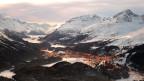 Eine Luftaufnahme von St. Moritz