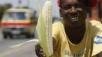 Maisverkäufer in Südafrika.