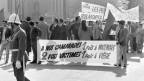 Wurden in Mattmark Tote in Kauf genommen? Demo in Genf gegen das Gerichtsurteil.
