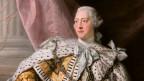 King George III in einem Umhang.