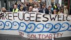 Solidaritätskundgebung im dänischen Aarhus, 12. September 2015.