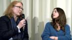 Brückenbauerin: Larissa Bender (l.) im Gespräch mit der syrsichen Autorin Dima Wannous.