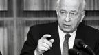 Jizchak Rabin in Bonn, 1993.