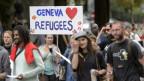Eine Pro-Flüchtlings-Demonstration in Genf.