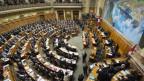 Der Nationalratssaal von oben.