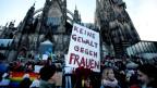 Demonstrationen nach den Silvester-Übergriffen in Köln.