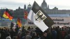In Dresden besonders stark. die Pegida.