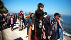 Afghanische Flüchtlinge nach ihrer Ankunft in Lesbos