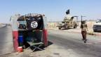 Strassensperre von IS-Anhänger im Irak