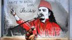 Amjad Sabri wurde nach seinem Tod zur Ikone gegen Gewalt: ein Strassenkünstler verewigt den Sufisänger.