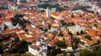 Foto der Hauptstadt Litauens Vilnius aus der Vogelperspektive