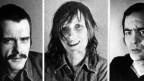 Fotos der drei Terroristen Jan-Carl Raspe, Gudrun Ensslin und Andreas Baader (von links), aufgenommen in der Justizvollzugsanstalt Stammheim, dort nahmen sich die Häftlingen am 18. Oktober 1977 das Leben.