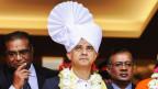 Sadiq Khan ist offen gegenüber anderen Kulturen und Religionen. Hier nimmt er an einer hinduistischen Zeremonie teil.
