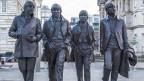 Die Beatles schländern auf den Strassen von Liverpool – leider nur als Statuen.