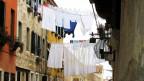 Auch dieses Bild gibt es in Venedig noch – Wäsche die zum trocknen aufgehängt wird.
