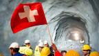 Ein Schritt in die Moderne: Die Sprengung des Hauptdurchschlags des Monte Ceneris wird gefeiert.