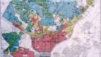 """""""redlining"""" in Philadelphia 1937: Wohngebiete ethnischer Minderheiten wurden rot eingefärbt und ausgegrenzt"""