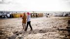Mädchen in einem jordanischen Flüchtlingscamp