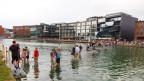 Bei den Skulturp Projekten Münster können Besucher noch bis Oktober über Wasser gehen: Die Installation On Water der Künstlerin Ayse Erkmen