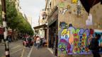 Ist das schon Kunst oder nur Verziehrung? Graffittis in Paris