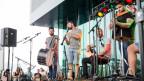 Musiker beim Abschlusskonzert «In den Strassen» am Erlebnistag des Lucerne Festivals
