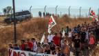 Tausende protestieren in Niscemi gegen das geplante Kommandozentrale MUOS