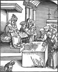 Ablasshandel: Der Papst als Antichrist in diesem Holzschnitt von Lucas Cranach d. Ä. von 1521