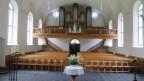 Der Chorstuhl der Reformierten Kirche Ennenda