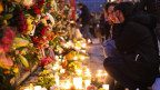 Gedenken an die Opfer der Terroranschläge von Ahlens, Schweden im April dieses Jahres