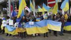 Ukrainische Demonstraten im Frühjahr 2014.