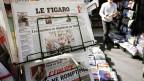 Ein Zeigungsständer an einem Kiosk in Aix-en-Provence
