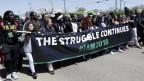 Demonstranten am 50. Jahrestag der Ermordung von Martin Luther King