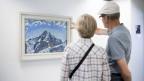 Besucher betrachten Hodlers «Der Mönch mit Wolken - 1911»