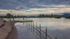 Ein Boot Ufer des Mekong
