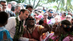 Der französische Präsdient Emmanuel Macron besucht Neukaledonien.