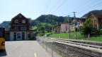 Ein Bahnhof in der Gemeinde Neckertal