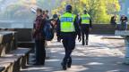 Die Basler Polizei ist unterwegs