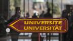 Zweisprachiger Wegweiser zur Universität Fribourg