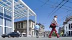 Der Platz vor dem Stadttor-Gebäude in Winterthur