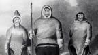 Zeichnung von drei Inuit